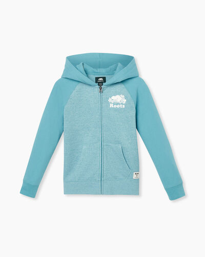 Roots-Sweats Girls-Girls Original Full Zip Hoody-Aqua Pepper-A