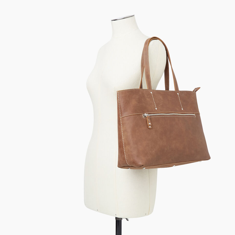 Roots-Leather New Arrivals-Westmount Tote Tribe-Natural-B