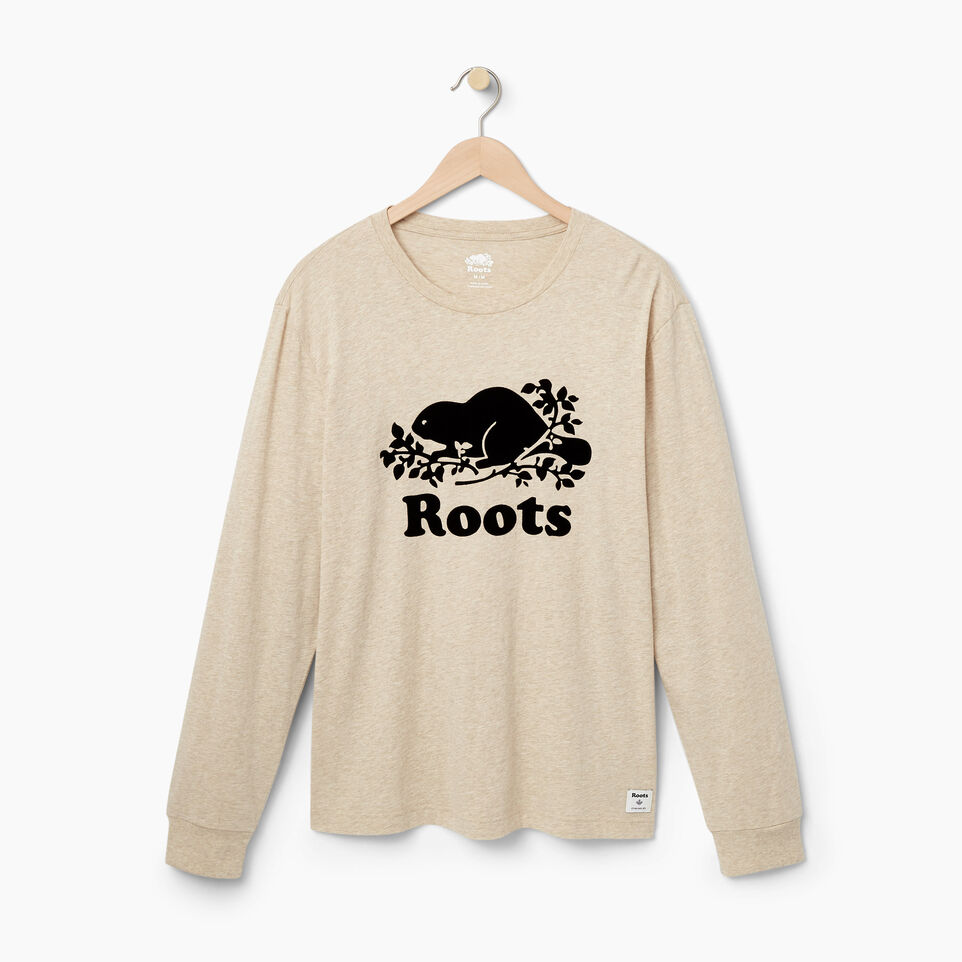 Roots-undefined-Mens Cooper Beaver Long Sleeve T-shirt-undefined-A