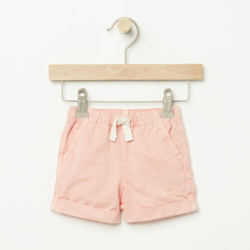 Roots-Sale Baby-Baby Pull On Short-Blossom Pink-A