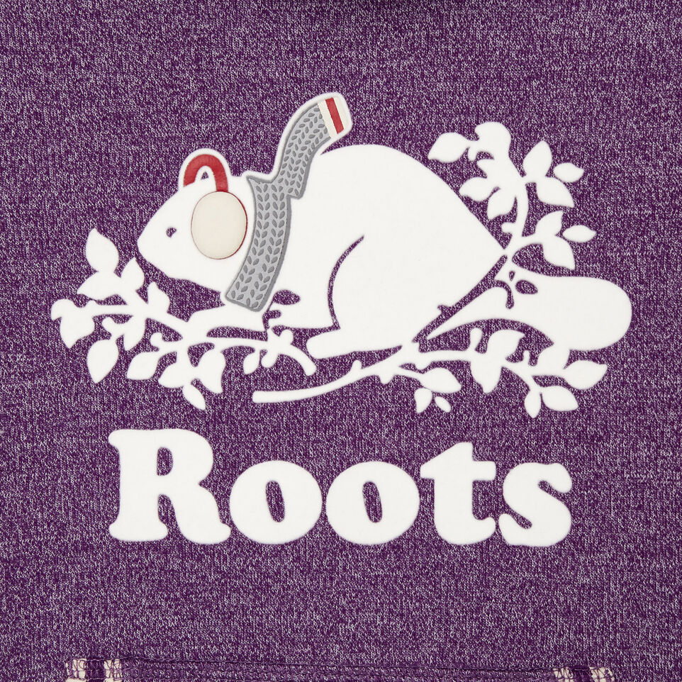 Roots-Kids New Arrivals-Girls Buddy Cozy Fleece Pullover-Grape Royale Pepper-C