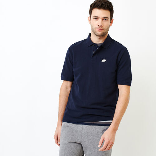 Roots-Men Categories-Heritage Pique Polo-Navy Blazer-A