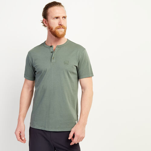 Roots-Men Clothing-Essential Henley-Balsam Green-A