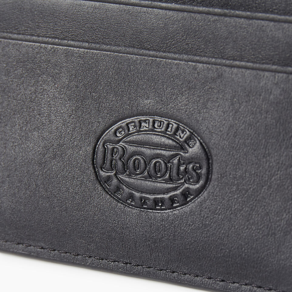 Roots-Leather  Handcrafted By Us Our Favourite New Arrivals-Card Holder Tribe-Jet Black-E