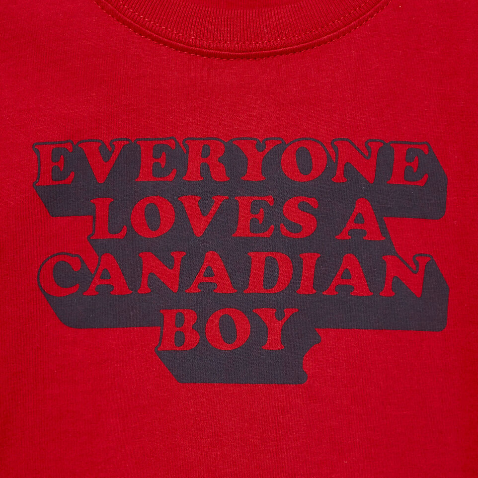 Roots-Kids Our Favourite New Arrivals-Baby Canadian Boy T-shirt-Sage Red-D
