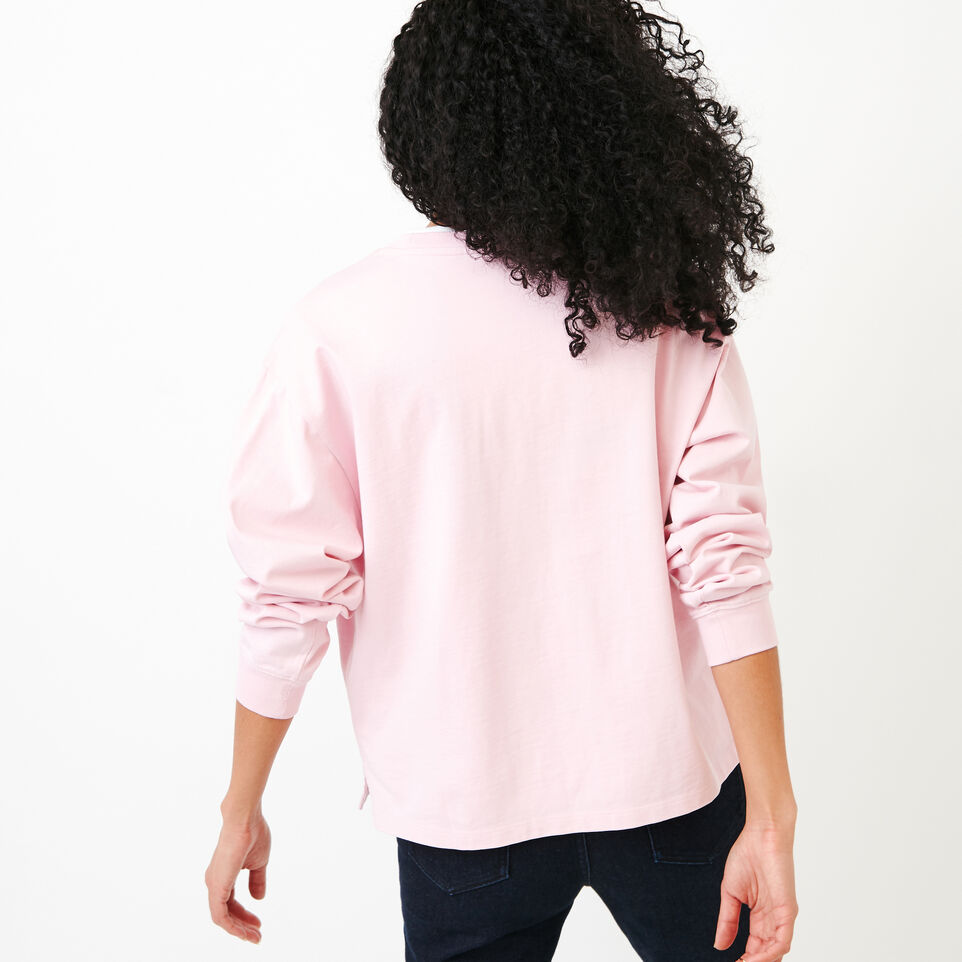 Roots-Women Our Favourite New Arrivals-Brookley Top-Pink Mist-D
