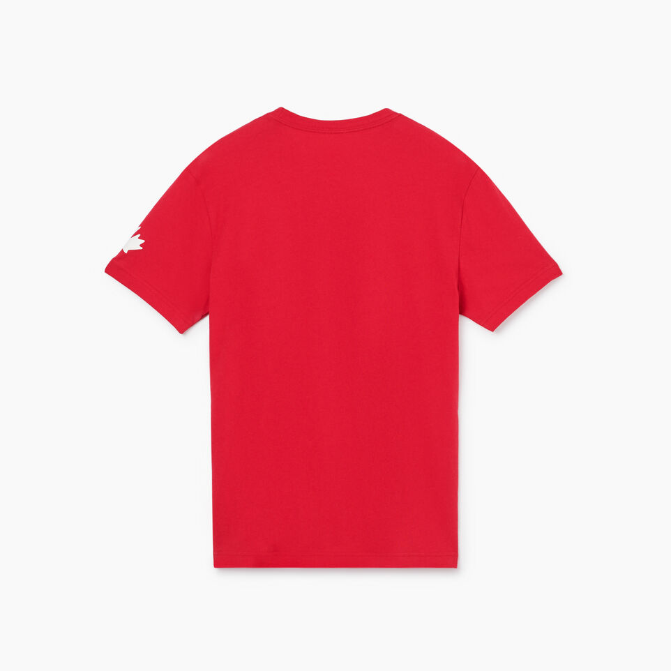 Roots-New For July Men-Mens Cooper Canada T-shirt-Sage Red-B
