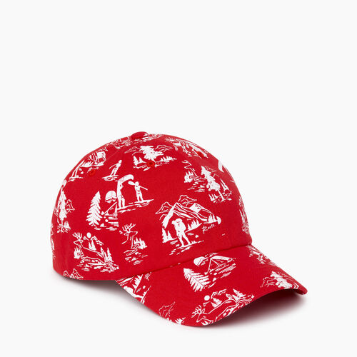 Roots-Women Accessories-Camp Scene Baseball Cap-Racing Red-A