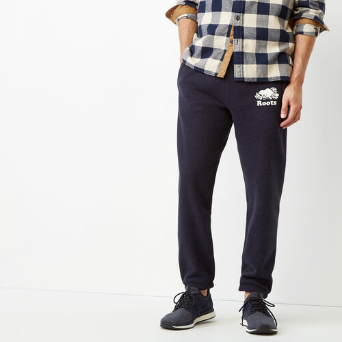 Roots-Winter Sale Men-Cooper Slim Sweatpant-Navy Blazer Mix-A