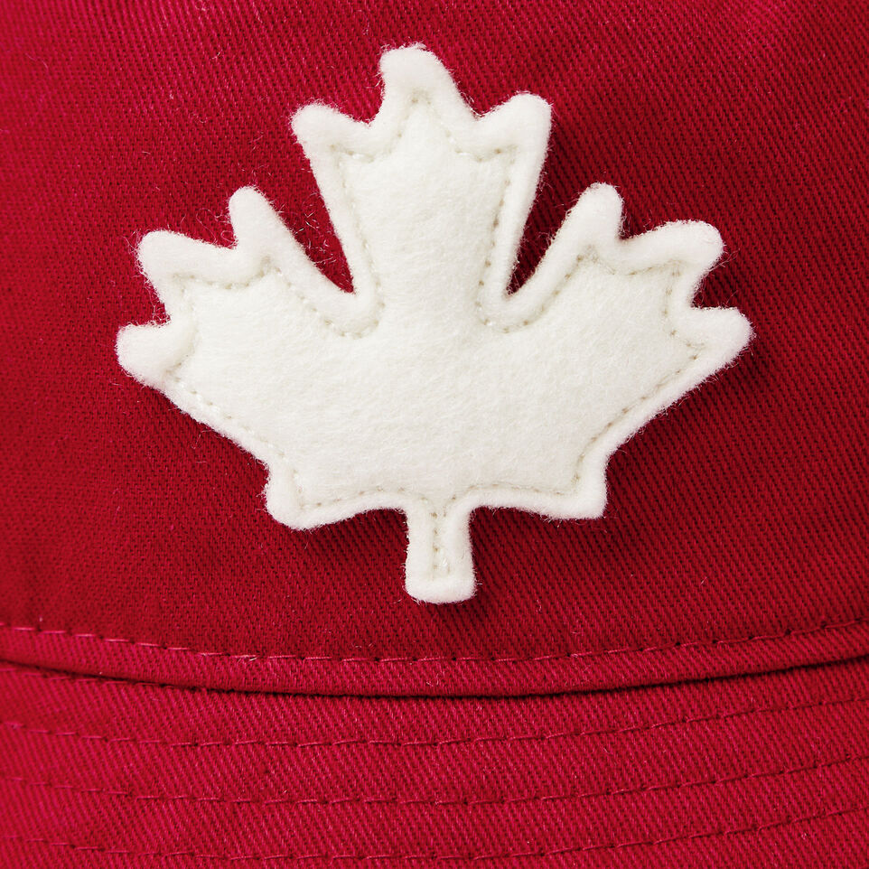 Roots-Clearance Kids-Toddler Canada Leaf Bucket Hat-Sage Red-D