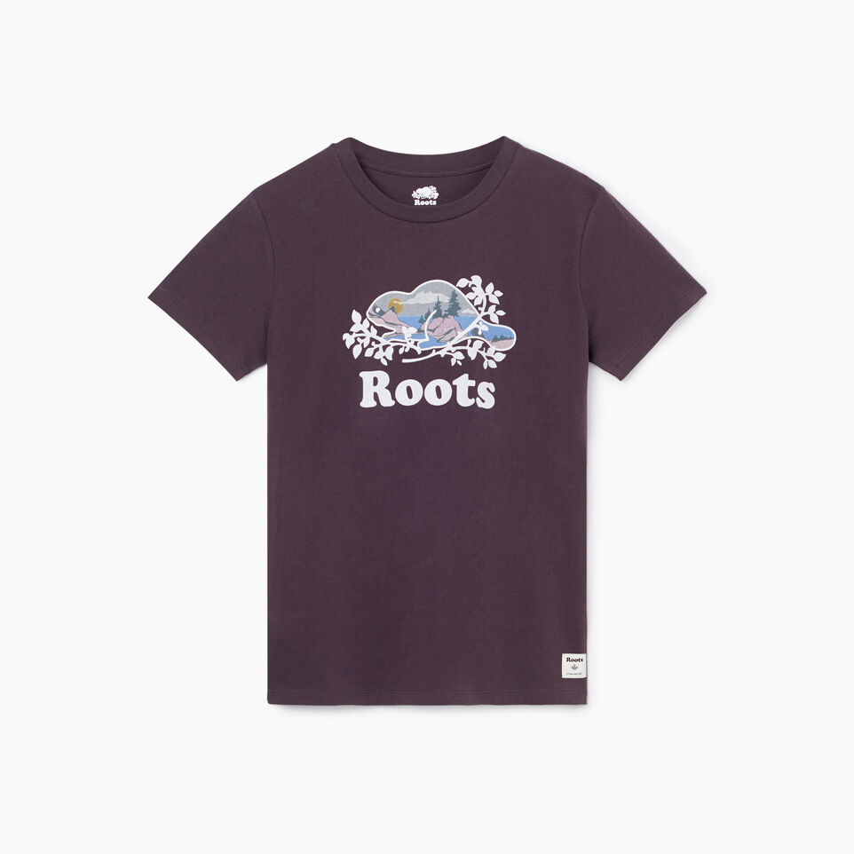 Roots-undefined-Womens Scenic Cooper Beaver T-shirt-undefined-A