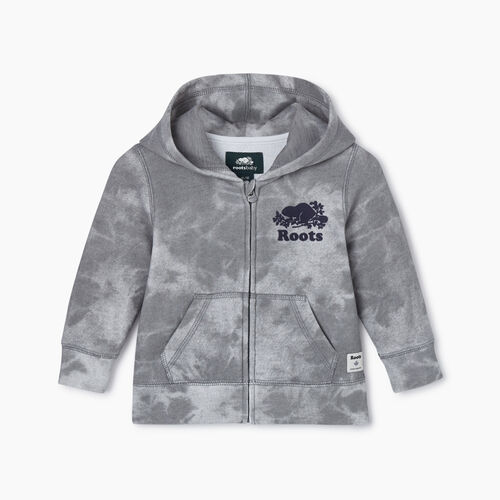 Roots-Kids Baby-Baby Original Full Zip Hoody-Charcoal-A