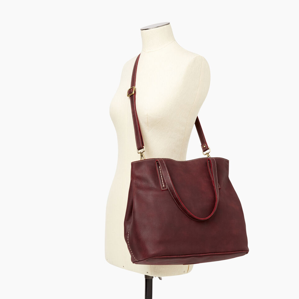 Roots-Leather Categories-Amelia Tote-Crimson-B