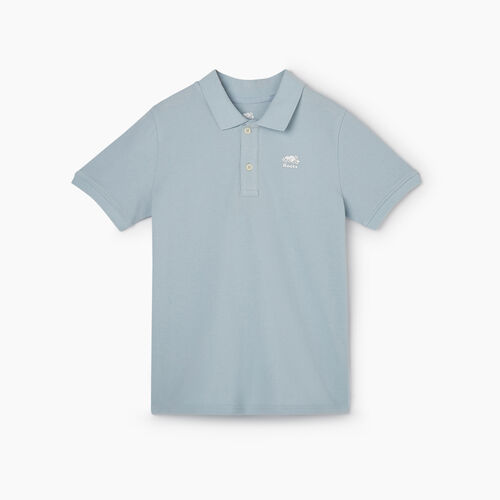 Roots-Kids New Arrivals-Boys Heritage Pique Polo-Celestial Blue-A