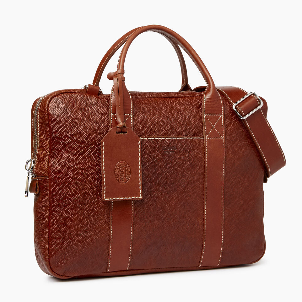 Roots-Leather  Handcrafted By Us Our Favourite New Arrivals-Wellington Laptop Bag Horween-Cognac-A