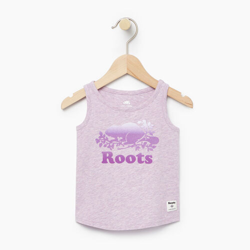 Roots-Kids T-shirts-Baby Gradient Cooper Beaver Tank-Lavendula Mix-A