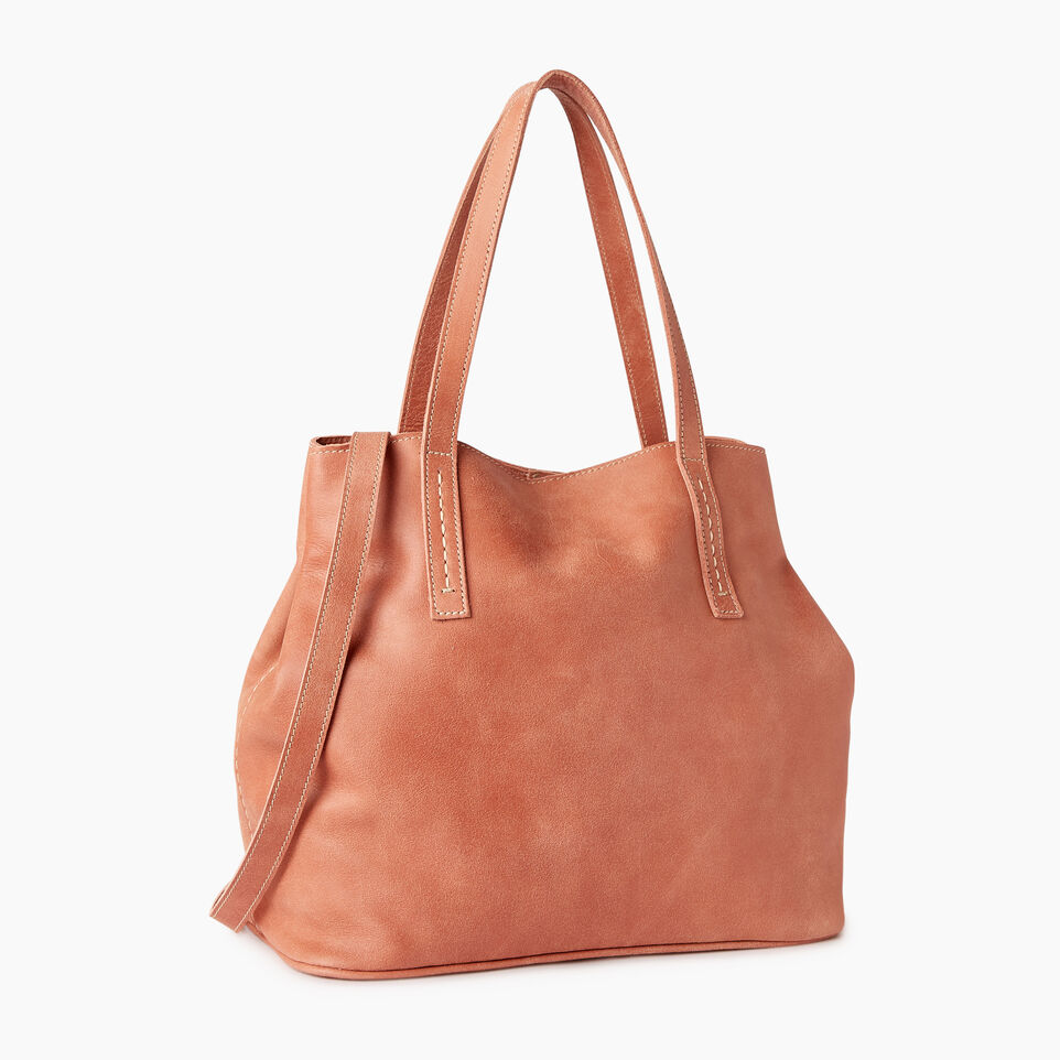 Roots-Leather Our Favourite New Arrivals-Amelia Tote-Canyon Rose-C