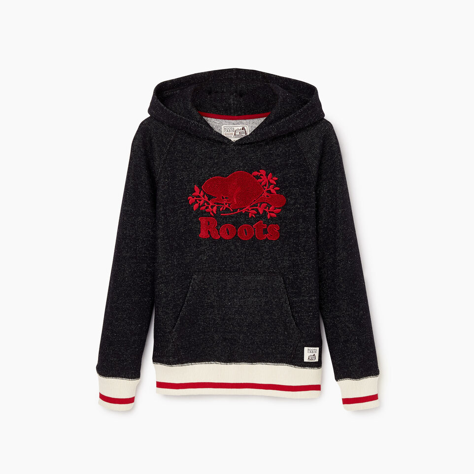 Roots-Kids Boys-Boys Roots Cabin Kanga Hoody-Black Pepper-A