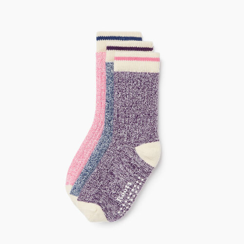 Roots-Kids Toddler Girls-Toddler Cabin Sock 3 Pack-Purple Pennant-A
