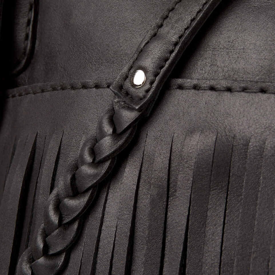 Roots-Leather  Handcrafted By Us Our Favourite New Arrivals-The Hippy Bag-Jet Black-E
