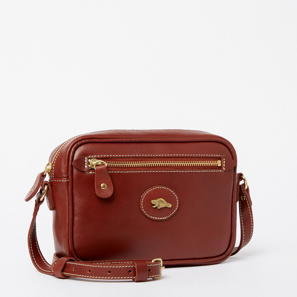 Roots-Clearance Leather-Original Lornas Bag Heritage-Oak-A