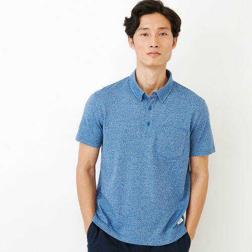 Roots-Men Our Favourite New Arrivals-Jersey Peppered Polo-Active Blue Pepper-A