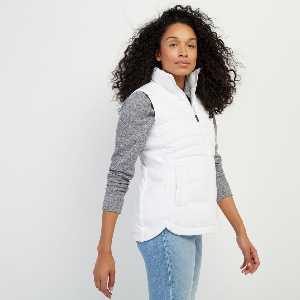 Roots-Women Our Favourite New Arrivals-Journey Hybrid Vest-White-C