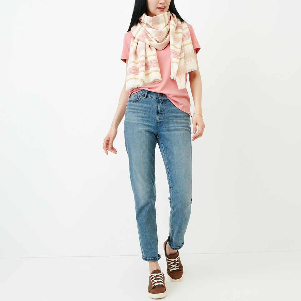 Roots-Women Our Favourite New Arrivals-Essential V T-shirt-Sunset Apricot-B