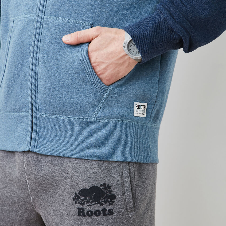 Roots-undefined-Contrast Full Zip Hoody-undefined-E