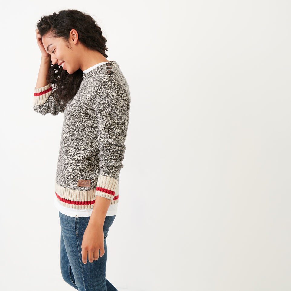 Roots-Women Categories-Roots Cotton Cabin Sweater-Grey Oat Mix-C