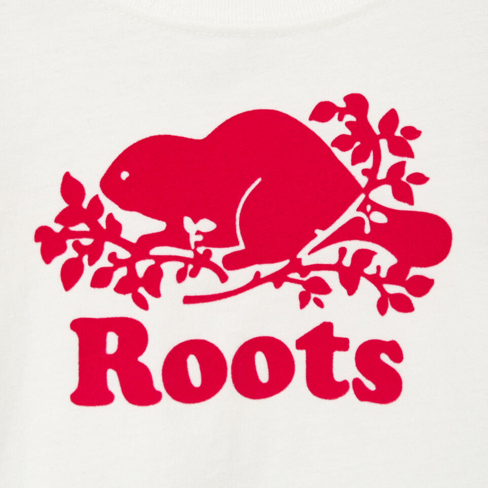 Roots-Kids Our Favourite New Arrivals-Toddler Original Cooper Beaver T-shirt-Ivory-D