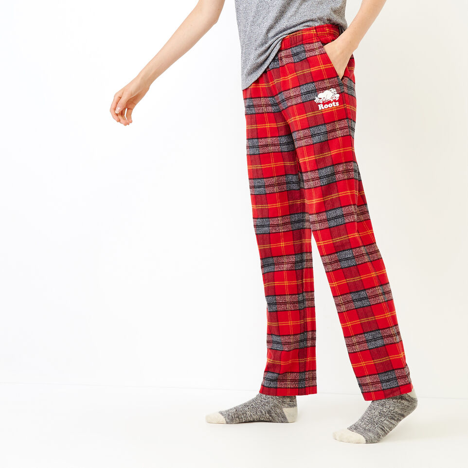 Roots-Women New Arrivals-Inglenook Lounge Pant-Cabin Red-C