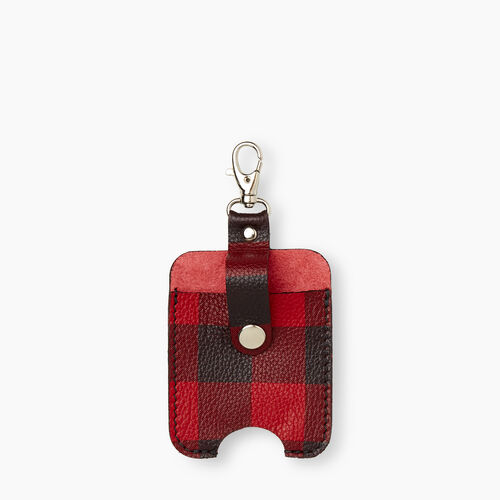Roots-New For December Mask & Wellness Accessories-Hand Sanitizer Holder Plaid-Cabin Red-A