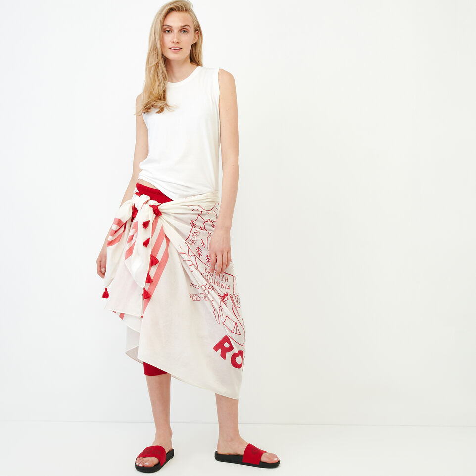 Roots-Women Our Favourite New Arrivals-Canada Sarong-Cannoli Cream-A