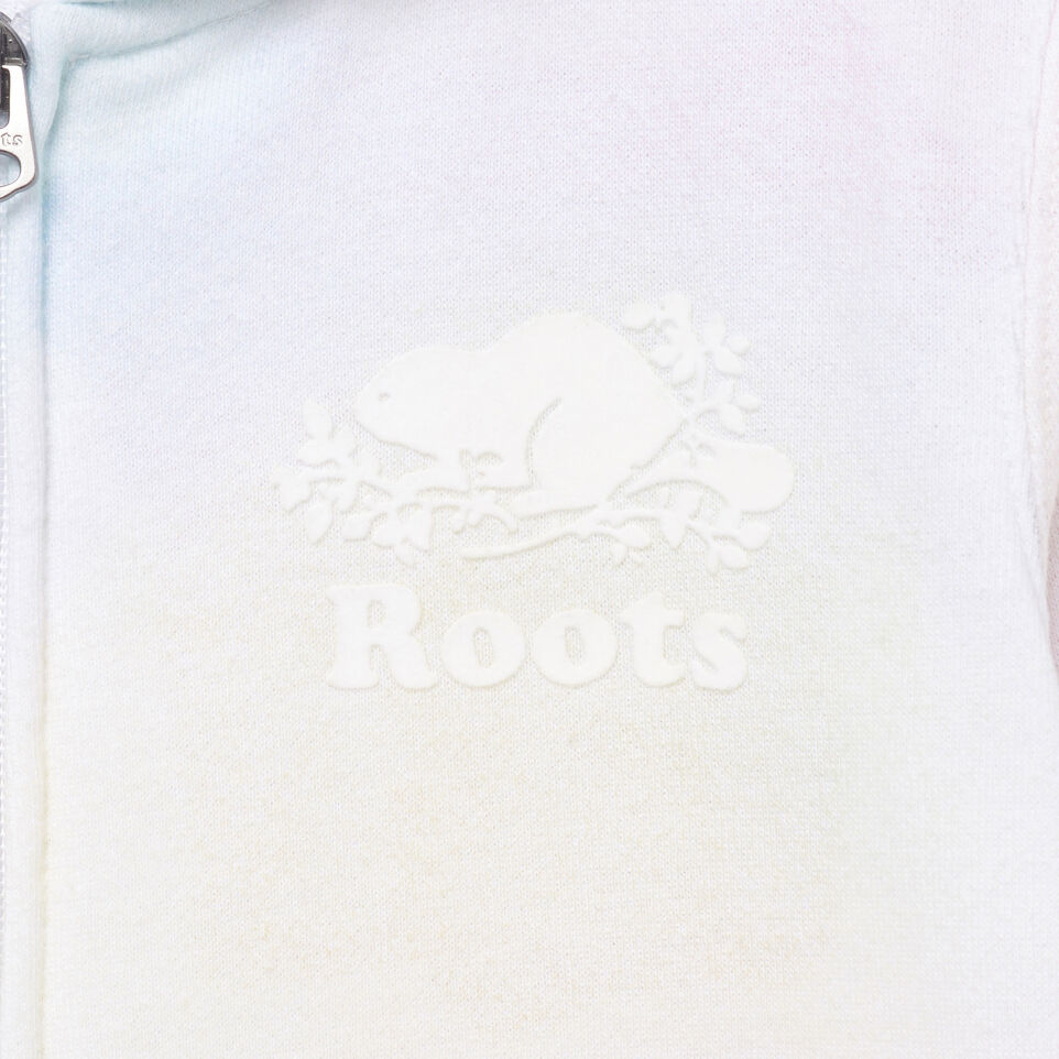 Roots-Kids Our Favourite New Arrivals-Girls Watercolour Full Zip Hoody-Ivory-D