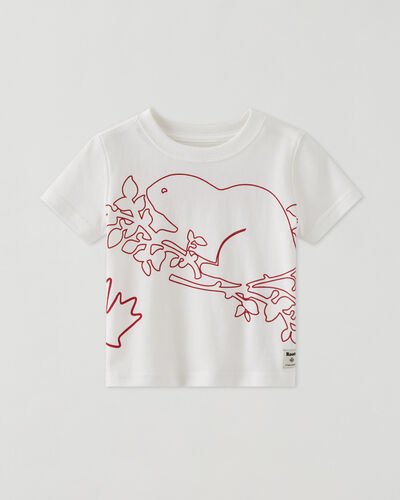 Roots-Kids Baby-Baby Super Cooper T-shirt-White-A