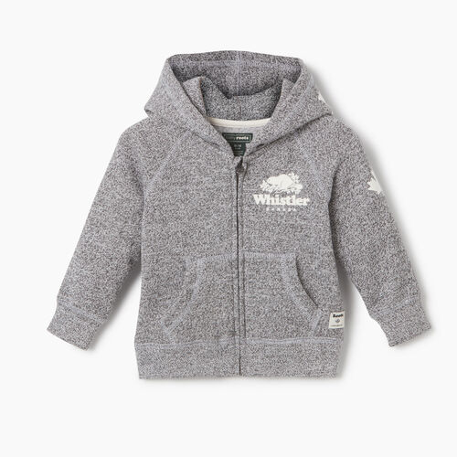 Roots-New For May City Collection-Baby Boy Whistler Ski City Full Zip Hoody-Salt & Pepper-A