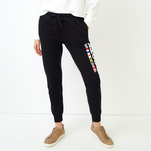 Roots-Women Sweatpants-Roots Unity Sweatpant-Black-A