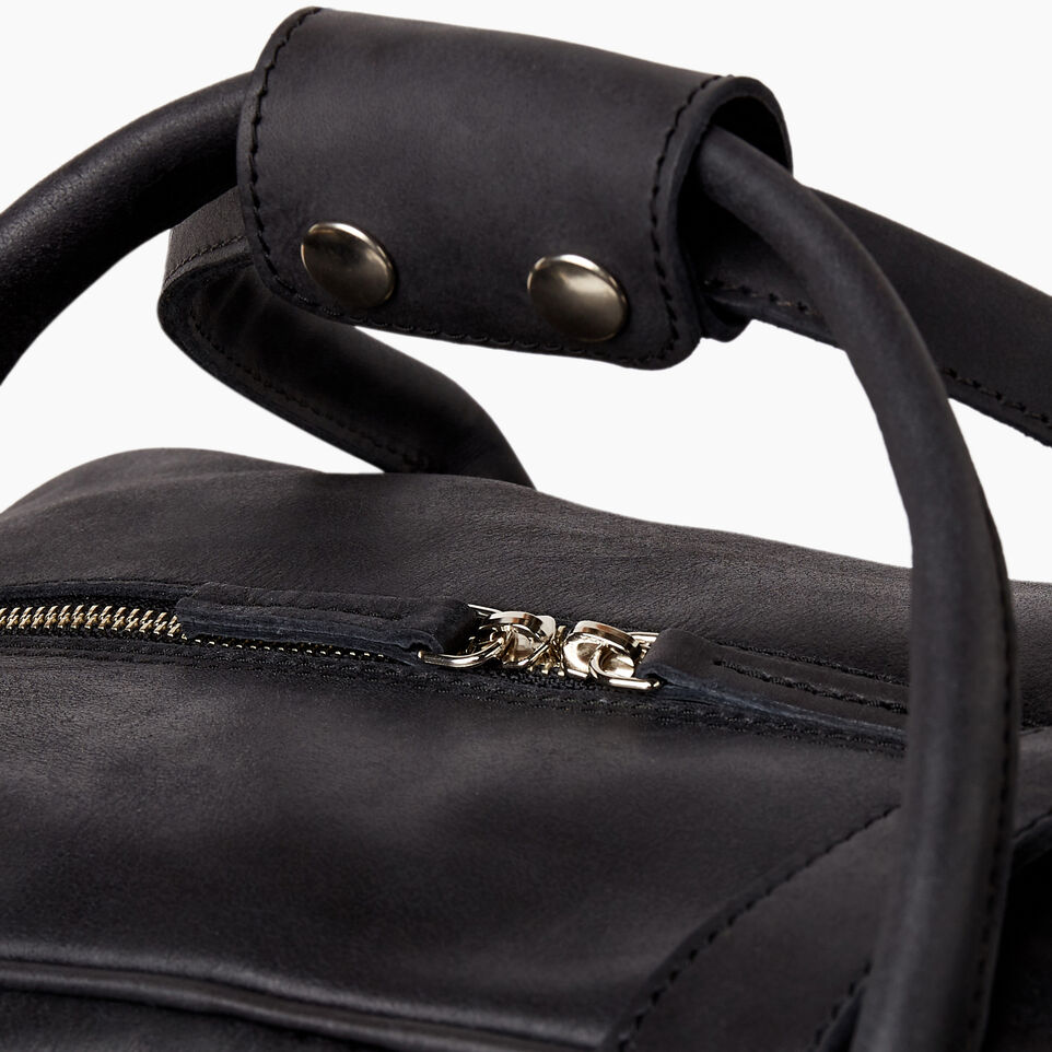 Roots-Leather Collections-Jasper Gym Bag-Jet Black-E