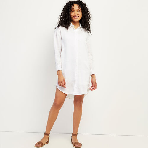 Roots-Women Dresses & Jumpsuits-Lachine Shirt Dress-White-A