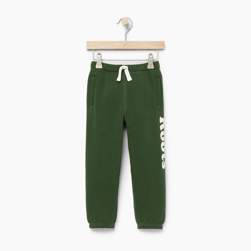 Roots-Kids Bottoms-Toddler Roots Remix Sweatpant-Camp Green-A
