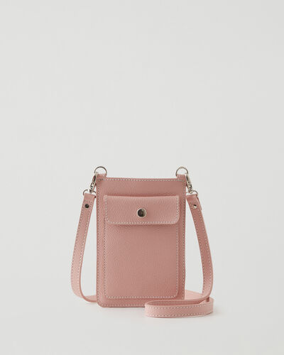 Roots-Leather Tech & Travel-Phone Pouch Cervino-Pink Pearl-A