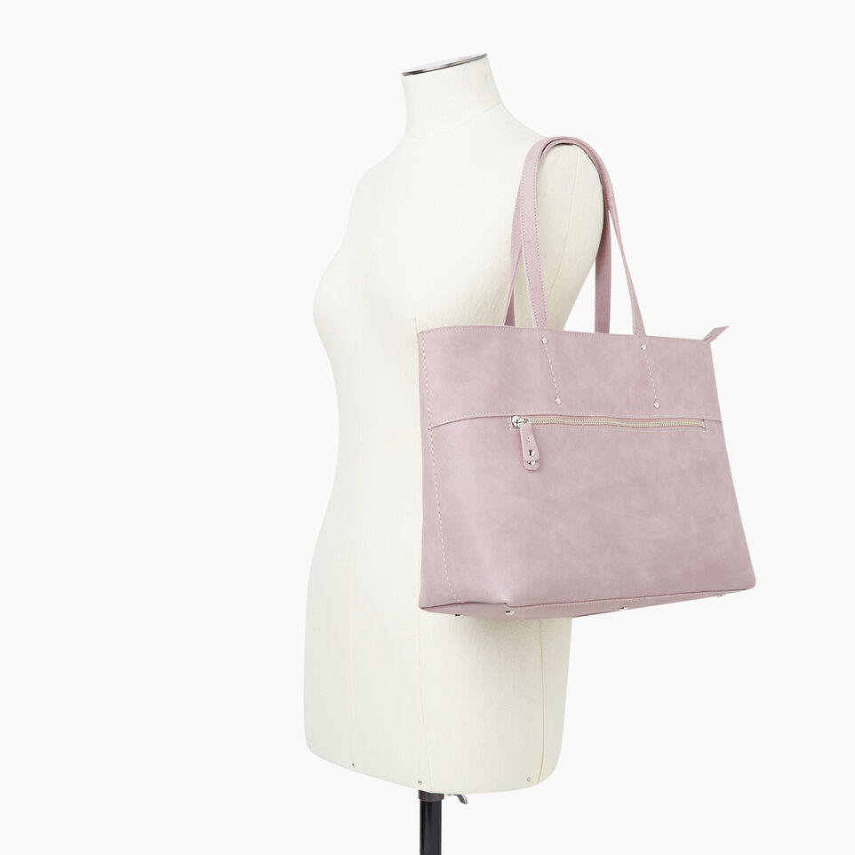 Roots-Leather New Arrivals-Westmount Tote Tribe-Woodrose-B