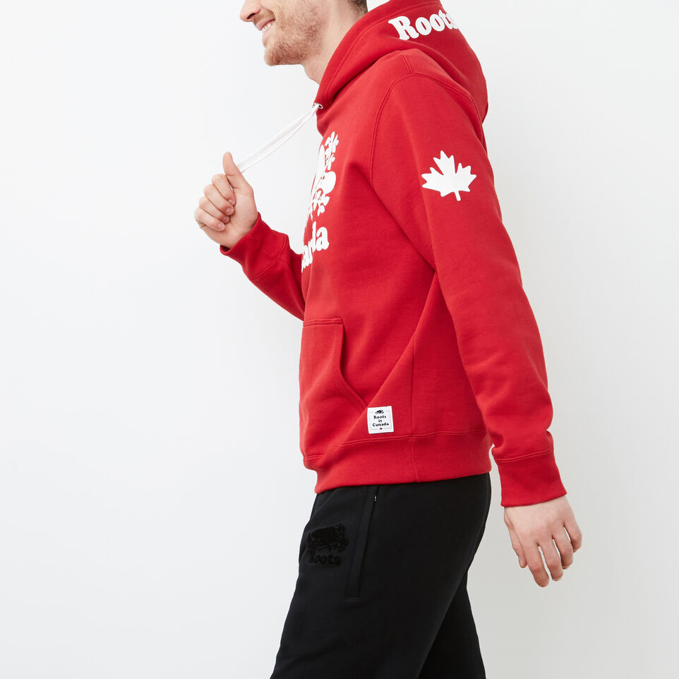 Roots-Men Canada Collection By Roots™-Mens Cooper Canada Hoody-Sage Red-C