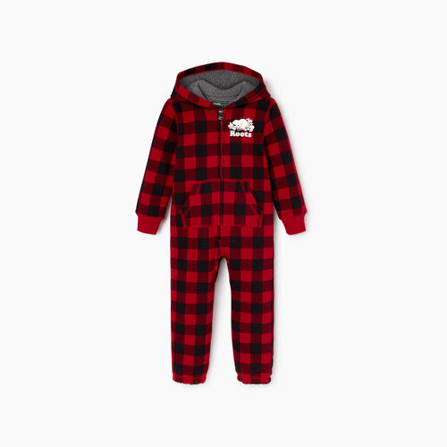 Roots-Kids Toddler Boys-Toddler Roots Park Plaid Onesie-Cabin Red-A
