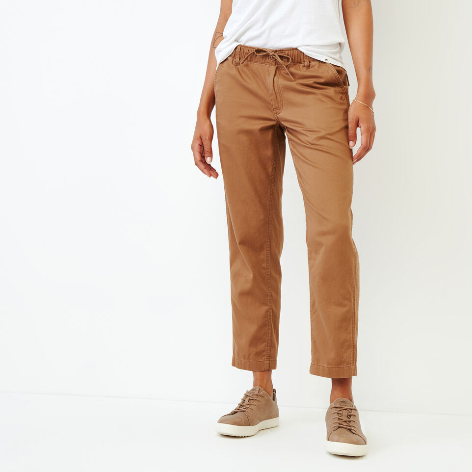 Roots-Women Bottoms-Bedford Slim Chino-Toasted Coconut-A