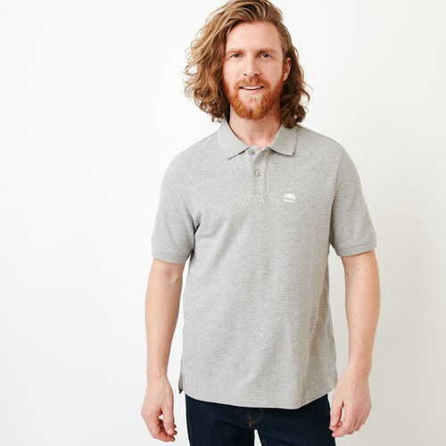 Roots-Men Our Favourite New Arrivals-Heritage Pique Polo-Grey Mix-A