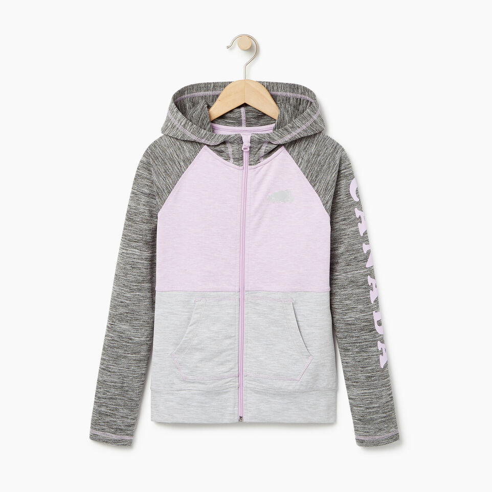 Roots-Kids New Arrivals-Girls Lola Active Full Zip Hoody-Lavendula-A
