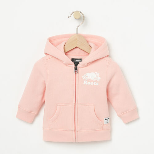 Roots-Sale Baby-Baby Original Full Zip Hoody-Blossom Pink-A