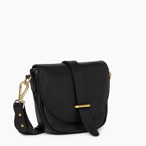 Roots-Women Crossbody-City Side Saddle Cervino-Black-A